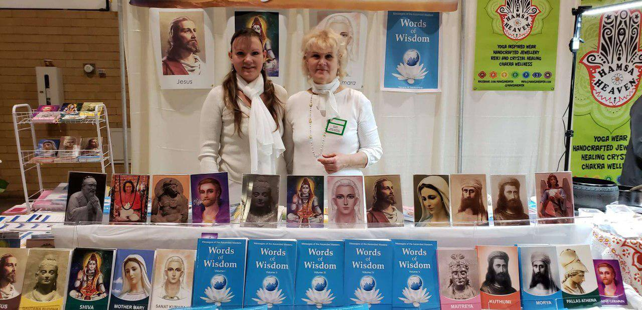 Books by Tatyana N. Mickushina <br/>have been presented on April 6-7, 2019 The Metaphysical and Spiritual Show of Toronto in Ontario,  Canada, 2019